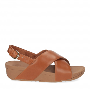 Fitflop Lulu Cross Back strap Sandal light tan-2