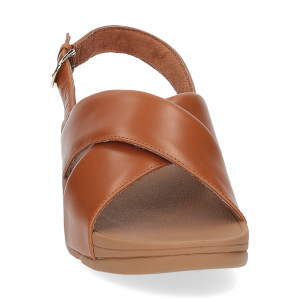 Fitflop Lulu Cross Back strap Sandal light tan-3