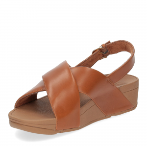 Fitflop Lulu Cross Back strap Sandal light tan-4