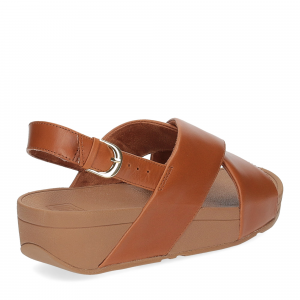 Fitflop Lulu Cross Back strap Sandal light tan-5