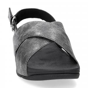 Fiflop Lulu Cross Back Strap Sandal shimmer print black-3