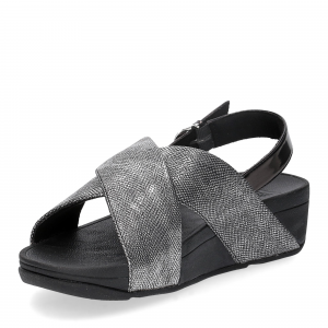 Fiflop Lulu Cross Back Strap Sandal shimmer print black-4