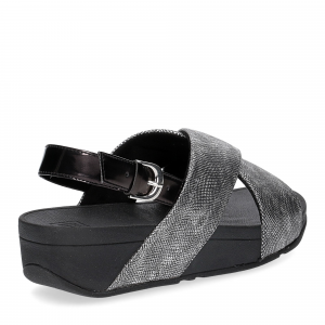 Fiflop Lulu Cross Back Strap Sandal shimmer print black-5