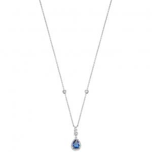 Morellato Collana Tesori - Pendente a goccia con zircone Blu