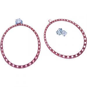 Bliss Orecchini Argento Jade - Modello Ovale Rosè