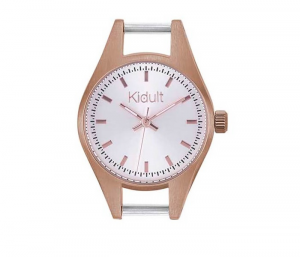 Kidult Orologio, Time Collection (PVD Rose Gold Quadrante silver)