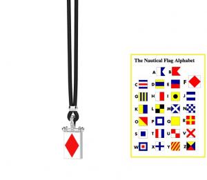 Zancan Collana Nautica (Bandiera Alfabeto Nautico, Lettera F)