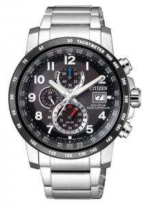Citizen H800 Sport, Quadrante nero, bracciale acciaio