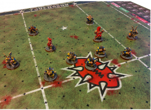 Blood Bowl Pitch - Fantasy Football Pitch - Noble Star Pitch