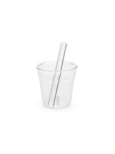 Confezione 6 bicchierini e palettine in vetro di Seletti