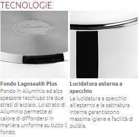 LAGOSTINA CASSERUOLA ALTA/FONDA MANICO LUNGO SFIZIOSA IN ACCIAIO CM. 14 010740031114