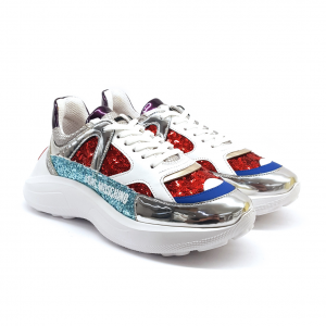 Chunky sneaker multicolor Love Moschino