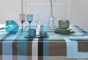 Bossi Casa Cucina Tovaglia 1361 Cotone Panama Tinto in filo x6 150x180