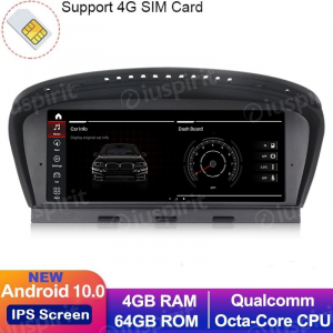 ANDROID 10 navigatore per BMW Serie 3 E90/E91/E92 BMW Serie 5 E60/E63/E64 Sistema originale CCC WI-FI GPS 4G LTE Bluetooth MirrorLink