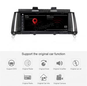 ANDROID 10 navigatore per BMW X3 F25 2010 2011 2012 Sistema originale CIC 8.8 pollici WI-FI GPS 4G LTE Bluetooth MirrorLink 4GB RAM 64GB ROM