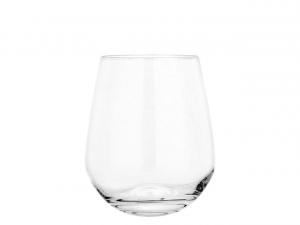 Set 6 bicchieri universali per acqua e bevande in vetro cristallino, Unisersum cl 42,5 cm.9,9h