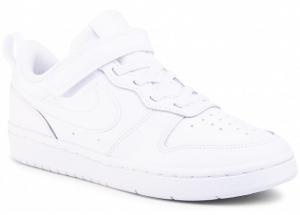 Nike Court Borough Low 2  Scarpe da Basket Bambino BQ5451-100WHITE/WHITE  -8