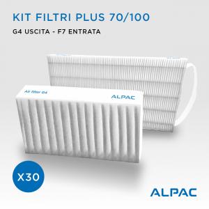 Kit filtri di ricambio - CONF. PROMO x30 - per Alpac INGENIUS VMC  Plus 70 e Plus 100  / Helty Flow 70 e 100