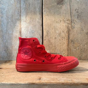 Scarpa Converse All Star Alta in Canvas Monocromo  Rossa