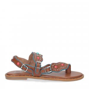 Il Laccio sandalo infradito PS5188 pelle cuoio-2