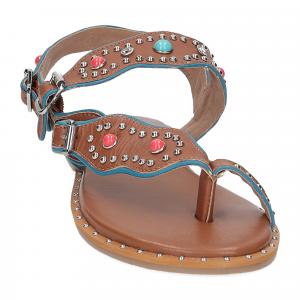 Il Laccio sandalo infradito PS5188 pelle cuoio-3
