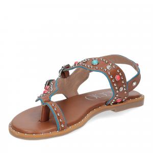 Il Laccio sandalo infradito PS5188 pelle cuoio-4