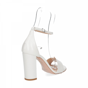 Il Laccio sandalo 1000 pelle bianco-5