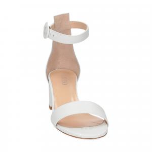 Il Laccio sandalo 669 pelle bianco-3