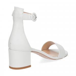 Il Laccio sandalo 669 pelle bianco-5
