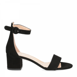 Il Laccio sandalo 669 camoscio nero-2