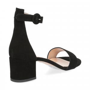 Il Laccio sandalo 669 camoscio nero-5