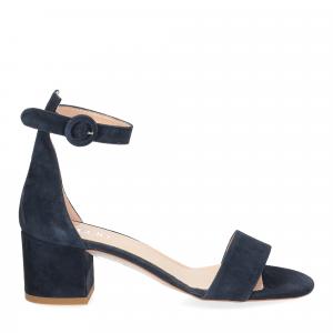 Il Laccio sandalo 669 camoscio blu-2