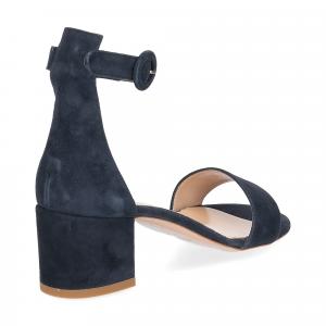 Il Laccio sandalo 669 camoscio blu-5