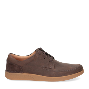 Clarks Oackland Craft dark brown nubuck-2