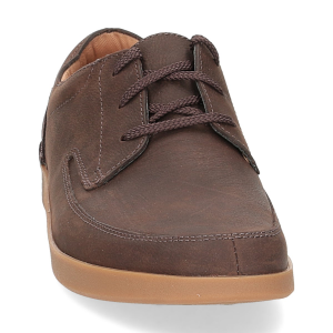 Clarks Oackland Craft dark brown nubuck-3