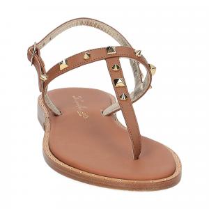 De Capri a Paris sandalo infradito pelle cuoio-3