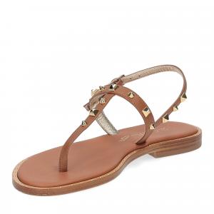 De Capri a Paris sandalo infradito pelle cuoio-4