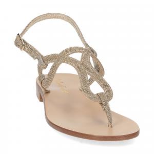 De Capri a Paris sandalo infradito SO31 lurex platino-3