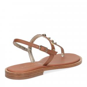 De Capri a Paris sandalo infradito pelle cuoio-5