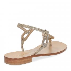 De Capri a Paris sandalo infradito SO31 lurex platino-5