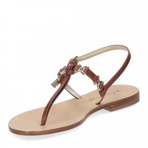 De Capri a Paris sandalo infradito nodino pelle cuoio-4
