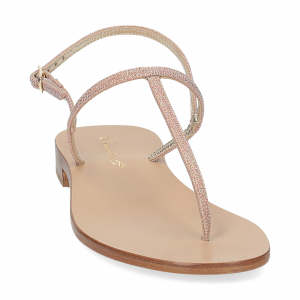 De Capri a Paris sandalo infradito PO14 lurex rosa-3