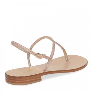 De Capri a Paris sandalo infradito PO14 lurex rosa-5