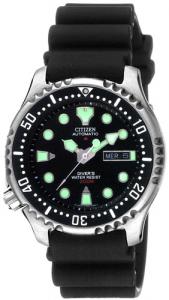 Citizen Diver Automatico cassa acciaio cinturino poliuretano nero