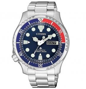 Citizen Diver Automatico Cassa e bracciale acciaio, quadrante blu
