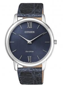 Citizen 0.45 Ultrapiatto Cassa acciaio, cinturino blu, quadrante blu