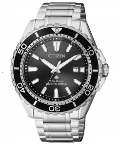 Citizen Diver's 200 Mt. Quadrante nero, bracciale acciaio