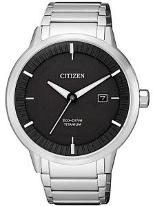Citizen Modern design - Quadrante nero, Super Titanio PTIC