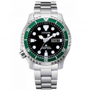 Citizen Diver Automatico Cassa e bracciale acciaio ghiera verde