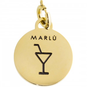 Marlù Ciondolo Time To -Incisione Cocktail Pvd Oro